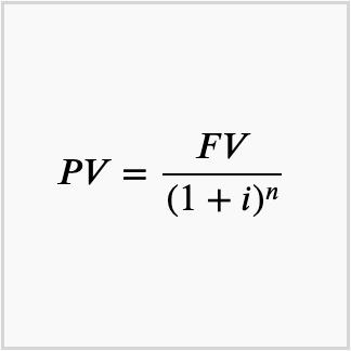 formula for present value of a sum