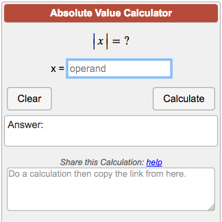 Calculators Algebra Absolute Value Calculator Png