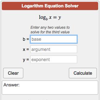 Calculators Algebra Logarithm Equation Calculator Png