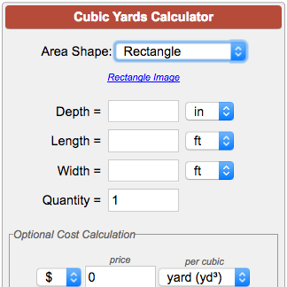 Cubic yards calculator - Interior paint calculator square feet ...