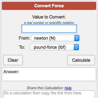 force conversion calculator. Black Bedroom Furniture Sets. Home Design Ideas