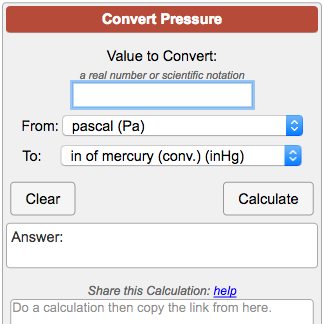 Pressure conversion calculator - Atmospheric pressure conversion table ...