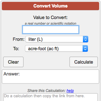volume conversion calculator. Black Bedroom Furniture Sets. Home Design Ideas