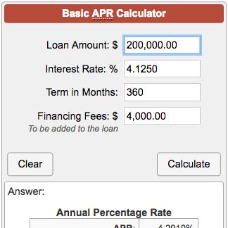 basic apr calculator