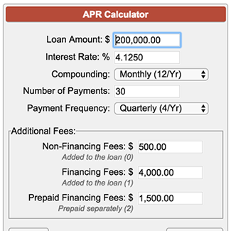 apr calculator