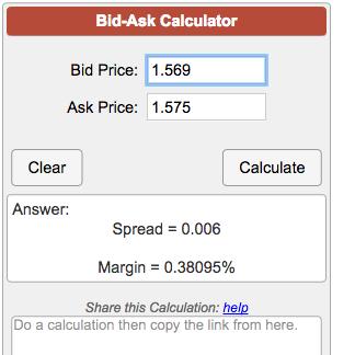 Bid-Ask Calculator
