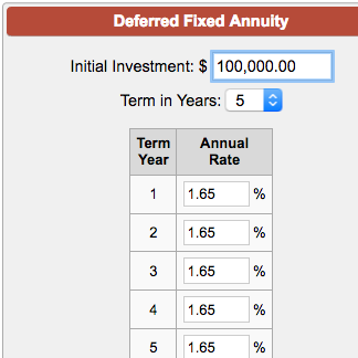 deferred fixed annuity calculator