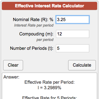 effective interest rate calculator