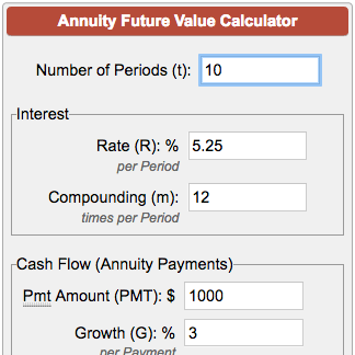 future value of annuity calculator
