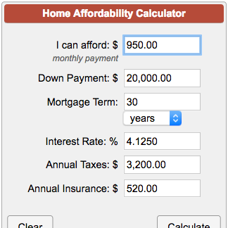 Mortgage Down Payment Calculator >> How Much House Can I Afford