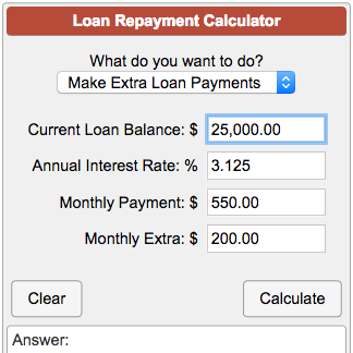 Monthly Payment Calculator >> Loan Repayment Calculator