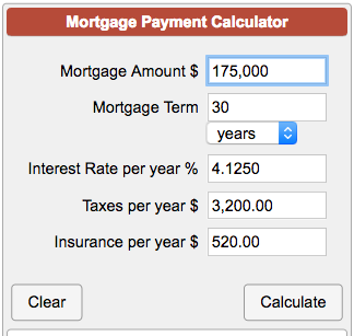 Free sample mortgage monthly payment calculator template.