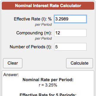 Calculate annual interest rate and APR