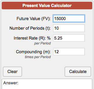 Present Value Of A Future Sum Calculator