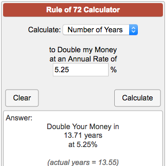 compound interest calculator time to double investments