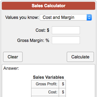 sales calculator
