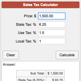 state and local sales tax calculator