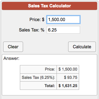 How To Figure Out Sales Tax >> Sales Tax Calculator