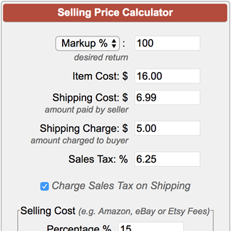 selling price calculator