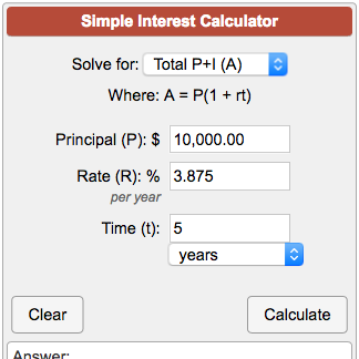 Simple Interest Calculator A P 1 Rt