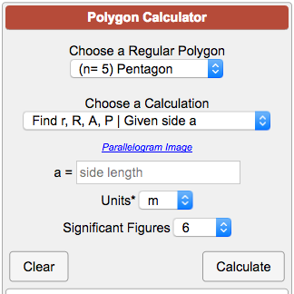 Regular Polygon Calculator