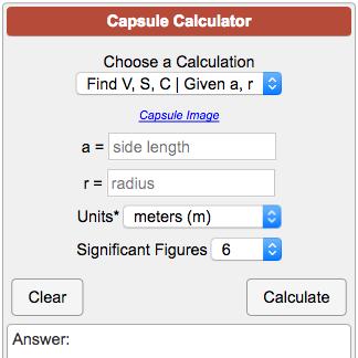 Capsule Calculator