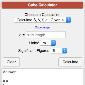 Cube Calculator