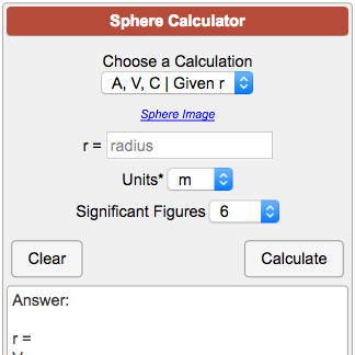 Sphere Calculator