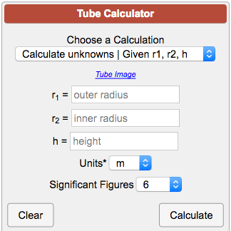 Tube Calculator
