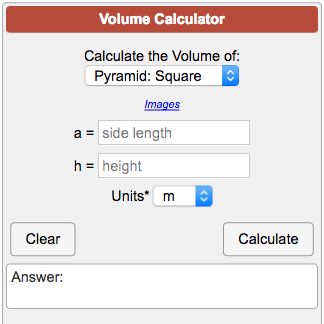 Volume of cylinder calculators