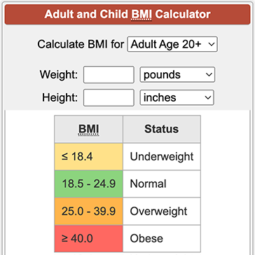 Bmi how to calculate
