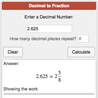 simplest form how to convert decimal to fraction  Decimal to Fraction Calculator