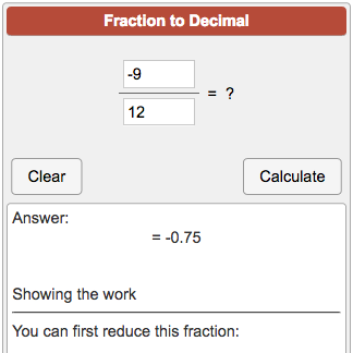 How to write a fraction as a decimal