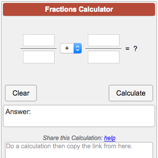 simplest form solver  Fractions Calculator