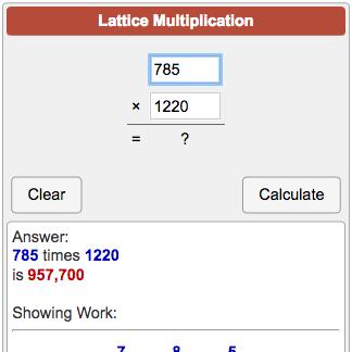 Lattice Multiplication Calculator