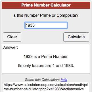 Prime Number Calculator