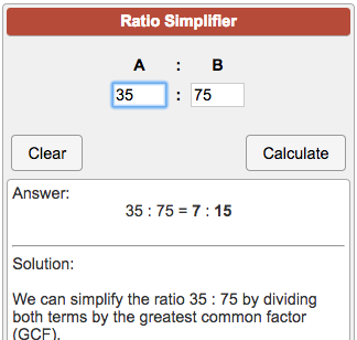 simplest form calculator ratio  Ratio Simplifier - Calculator Soup