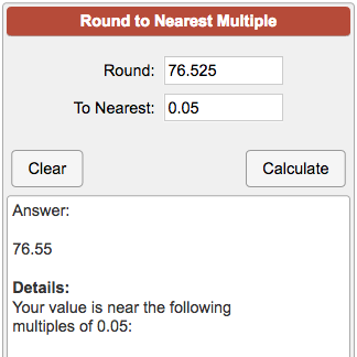 Rounding to the nearest whole number students are given four.