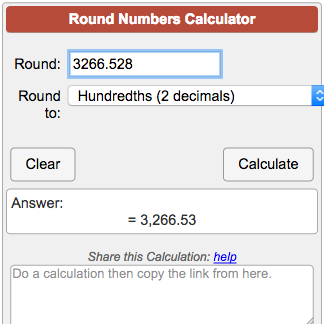 Rounding Numbers Calculator
