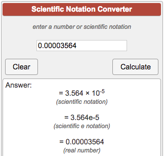 scientific notation converter