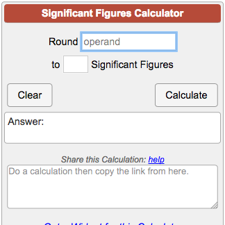 Adding significant figures (sig fig) calculator.