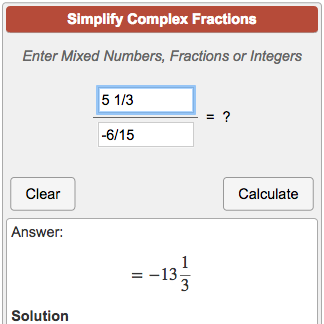 simplest form generator fractions  Simplifying Complex Fractions Calculator