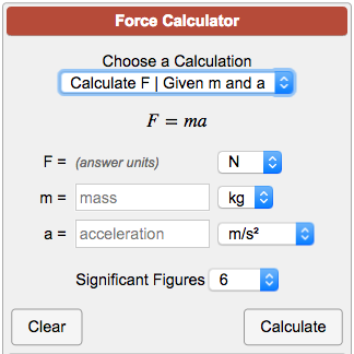 how to find force without acceleration