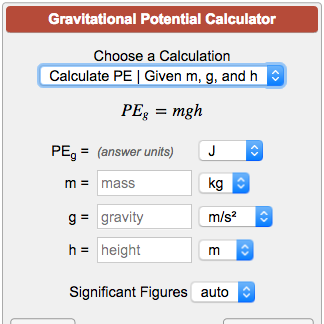 force of gravity calculator
