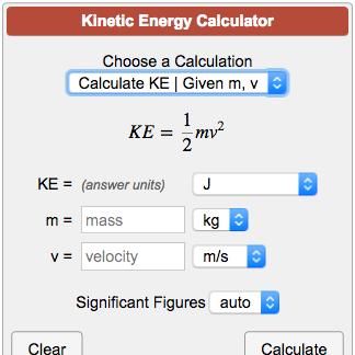 Kinetic Energy Calculator