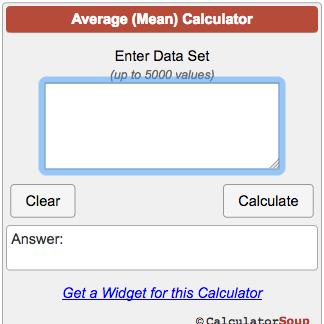 Average Calculator (Mean)