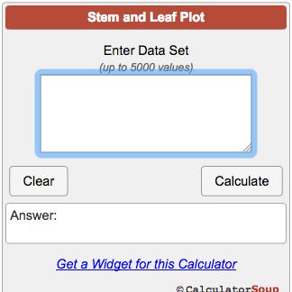 Stem and Leaf Plot Generator