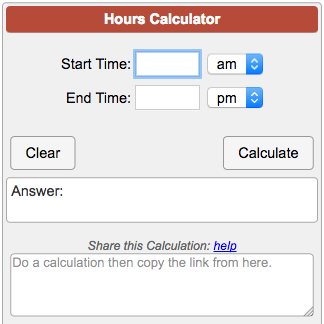 hours calculator