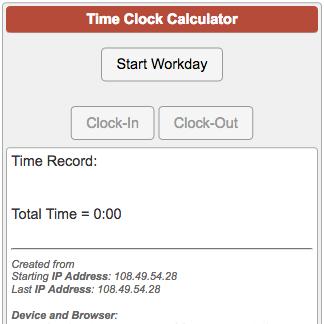 time clock in clock out calculator