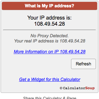 Does great cell phone present an IP address